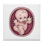 Razz Baby Tile Coaster