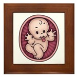 Razz Baby Framed Tile