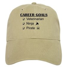 Vet Career Goals - Ninja Pirate Baseball Cap