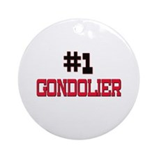 Number 1 GONDOLIER Ornament (Round)