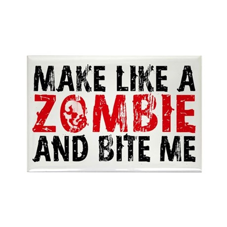 """Zombie"" Rectangle Magnet (100 pack)"