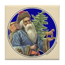 Old Santa with Horse - Tile Coaster