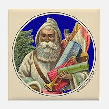 Old Santa, white robe - Tile Coaster