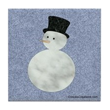 Marbled Snowman - Tile Coaster