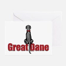 Black Great Dane UC Sit Greeting Cards (Pk of 20)