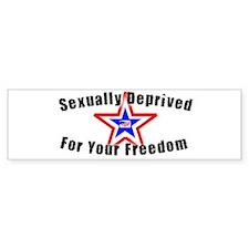 Sexually Deprived Bumper Bumper Sticker