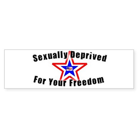 Sexually Deprived Bumper Sticker