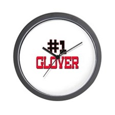 Number 1 GLOVER Wall Clock