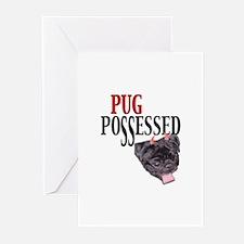 (Visit AllThingsPug.com) Pug Possessed Greeting Ca