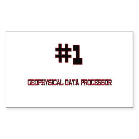 Number 1 GEOPHYSICAL DATA PROCESSOR Sticker (Recta