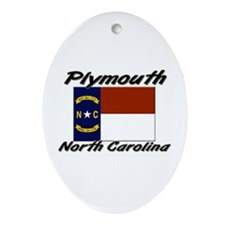 Plymouth North Carolina Oval Ornament