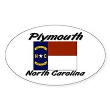 Plymouth North Carolina Oval Decal