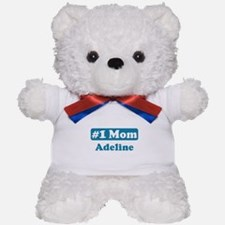 #1 Mom Adeline Teddy Bear