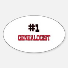 Number 1 GENEALOGIST Oval Decal
