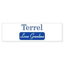 Terrel loves grandma Bumper Bumper Sticker