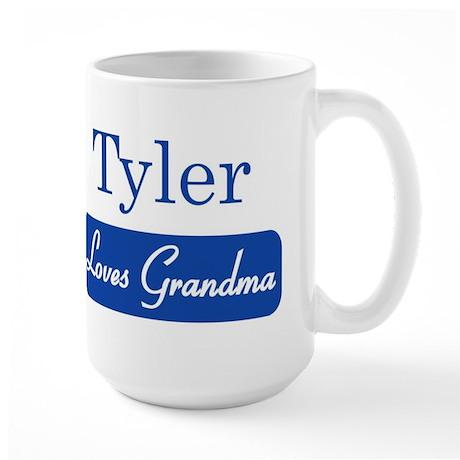 Tyler loves grandma Large Mug