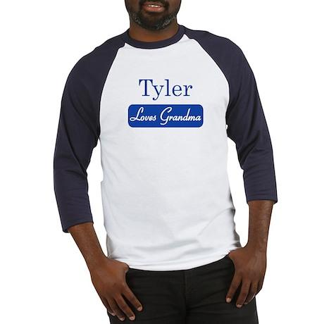 Tyler loves grandma Baseball Jersey