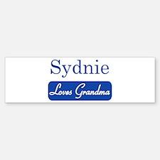 Sydnie loves grandma Bumper Bumper Bumper Sticker
