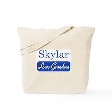Skylar loves grandma Tote Bag