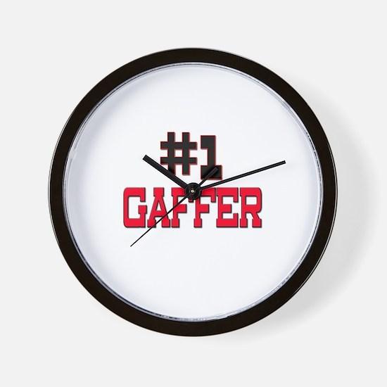 Number 1 GAFFER Wall Clock