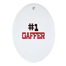 Number 1 GAFFER Oval Ornament