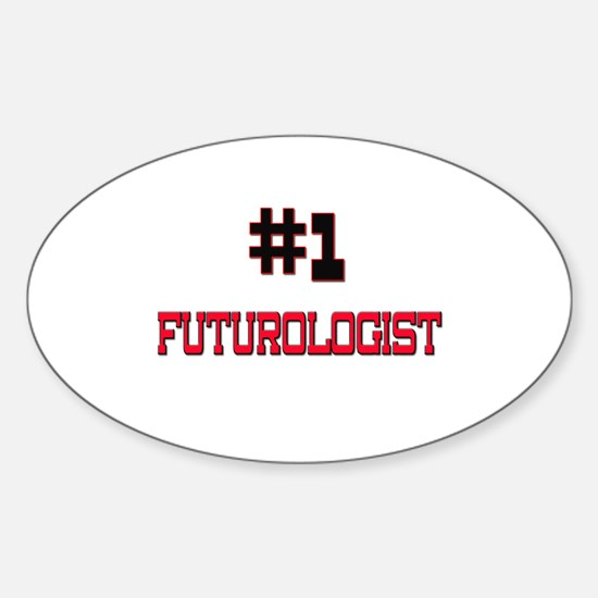 Number 1 FUTUROLOGIST Oval Decal