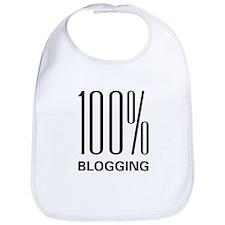 100 Percent Blogging Bib