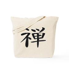Zen - Kanji Symbol Tote Bag