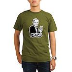 Ron Paul Peace Organic Men's T-Shirt (dark)