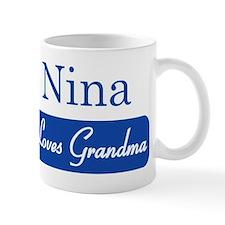 Nina loves grandma Mug