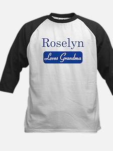 Roselyn loves grandma Kids Baseball Jersey