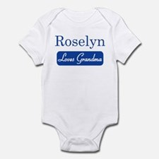 Roselyn loves grandma Infant Bodysuit