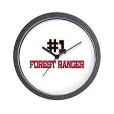 Number 1 FOREST RANGER Wall Clock