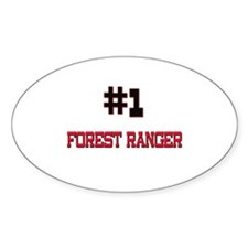 Number 1 FOREST RANGER Oval Decal