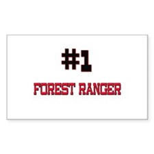 Number 1 FOREST RANGER Rectangle Decal