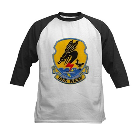 USS WASP Kids Baseball Jersey