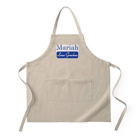 Mariah loves grandma BBQ Apron