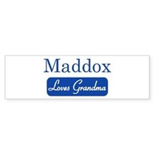 Maddox loves grandma Bumper Bumper Sticker