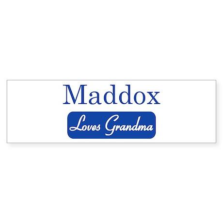 Maddox loves grandma Bumper Sticker
