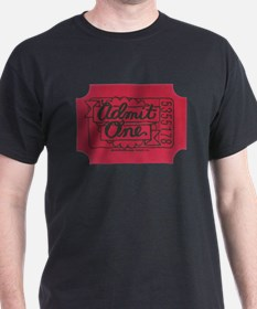 Admit One Red Black T-Shirt