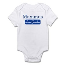 Maximus loves grandma Infant Bodysuit