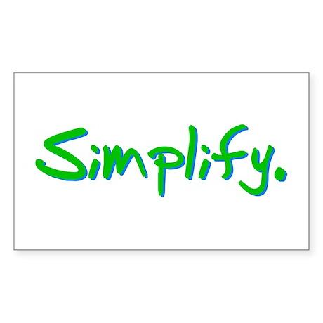 Simplify Rectangle Sticker