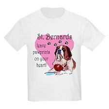 St. Bermard Pawprints Kids T-Shirt