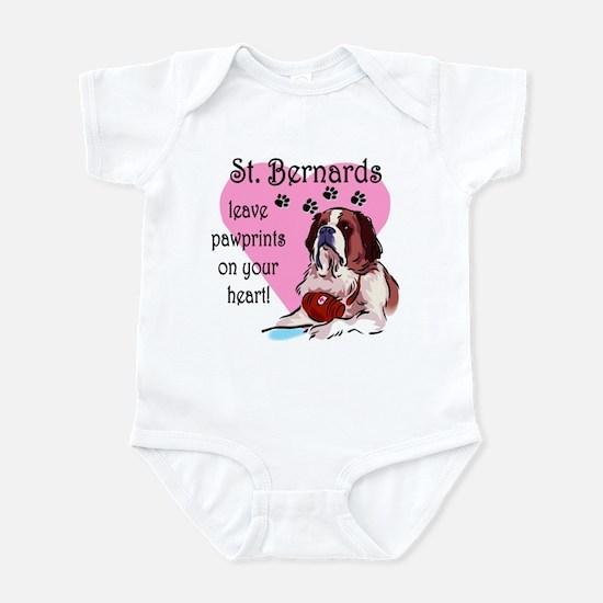 St. Bermard Pawprints Infant Creeper