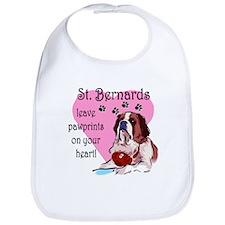 St. Bermard Pawprints Bib