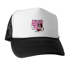St. Bermard Pawprints Trucker Hat
