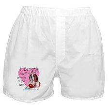 St. Bermard Pawprints Boxer Shorts