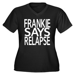 Frankie says Women's Plus Size V-Neck Dark T-Shirt