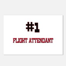 Number 1 FLIGHT ATTENDANT Postcards (Package of 8)