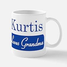 Kurtis loves grandma Small Small Mug